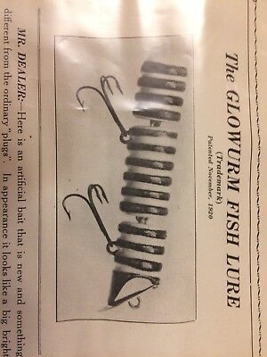 Rare Oliver And Gruber Glowworm Lure Brochure Paper -Seldom Seen!