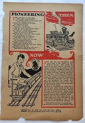 1923 Print Ad ~ IVES Miniature Railroads ~ IVES TOYS  ~ Ives Manufacturing Corp.