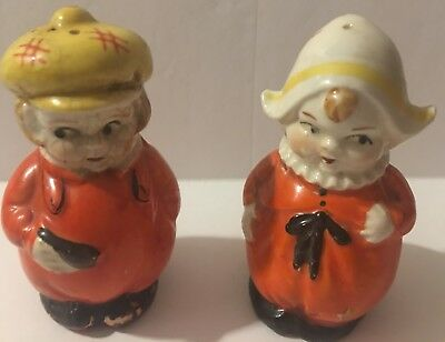 Vintage Collectible Dutch Boy And Girl Salt And Pepper Shakers