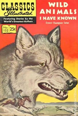 Classics Illustrated 152 Wild Animals I Have Known #5 1969 VG+ 4.5 Stock Image