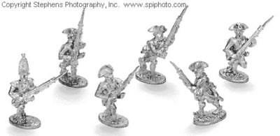 Old Glory French & Indian Wars 25mm British Line Infantry - Advancing Pack MINT