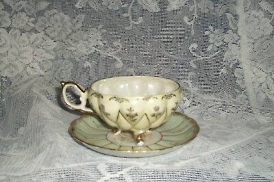 Vintage Royal Sealy China Three Footed Cup Cup &  Saucer #3470 Japan