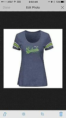 4a2552907 NFL Seattle Seahawks Women s Short Sleeve Heather Tri-blend Scoop Neck T- Shirt