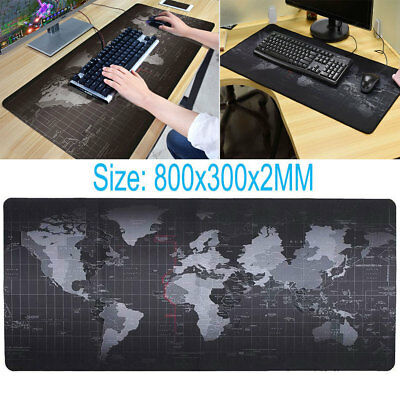 Large Anti-Slip World Map Speed Game Mouse Pad Gaming Mat For Laptop PC XL Size