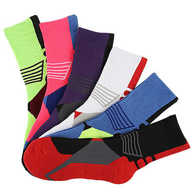 Colorful Unisex Professional Outdoor Sports Basketball Thick Bottom Long Socks