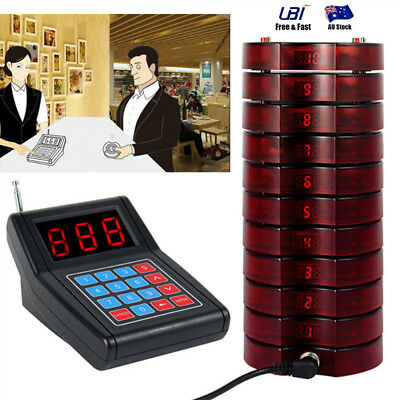 10 Restaurant Coasters Pager Guest Call Wireless Paging Queuing Calling Machine