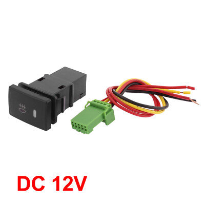 dc 12v panel mount latching 4 wire fog light switch for toyotadc 12v panel mount latching 4 wire fog light switch for toyota carola