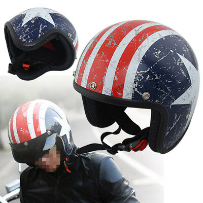 3/4 Open Face Motorcycle Comfortable Safety Helmet Scooter ATV Off Road Size XL