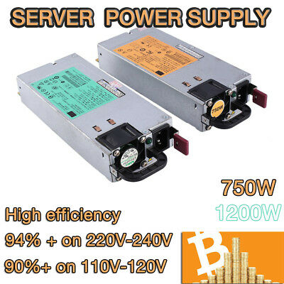 Server 1200W + 750W Switching Power Supply for GPU Rig Mining Ethereum BTC ETH