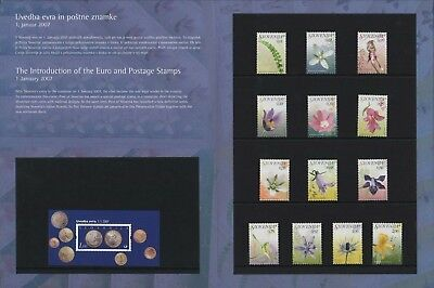 "Slovenia ""Introduction Of The Euro"" Stamps 2007  Slowenien  Slovenie A4.608"