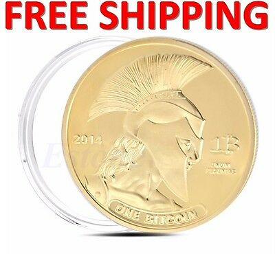 2Pcs Gold Plated Titan Commemorative Coin BTC Bitcoin Collectible Collection