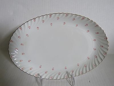 """ROYAL BAYREUTH  White tiny pink flowers ROB104 small Platter 11.5"""""""