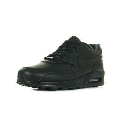 Chaussures Baskets Nike homme Air Max 90 Leather taille Noir Noire Cuir Lacets
