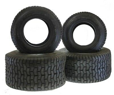 citomerx Tyres Set 2 x 20X10-8 and 2 16x6.5-8 TL For Lawn Tractor Ride On Mower