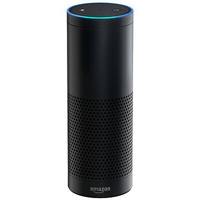 Amazon Echo with Alexa Voice Control Personal Assistant - Black - VG - In Box
