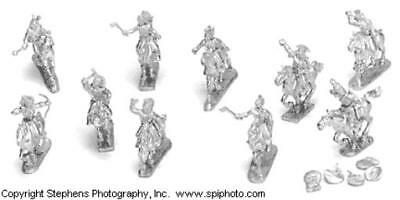 Old Glory Old West 25mm Sac & Fox Warriors - Mounted Pack MINT
