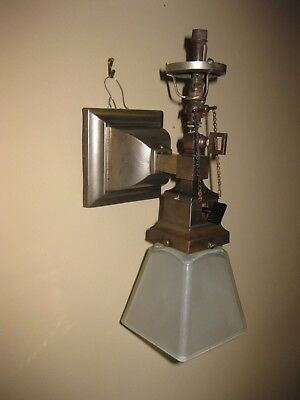 Antique 1900 Mission Style Gas & Electric Sconce