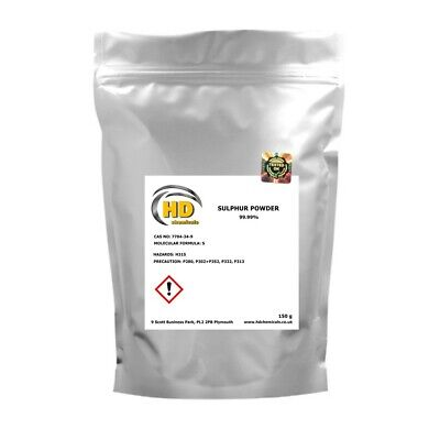 99.99% PURE GRADE Flowers of Sulphur Powder,Sulfur FREE COURIER - finest powder