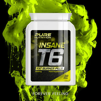 Pure Nutrition T6 Insane Fat Burner Pills Burn Fat Fast Weight