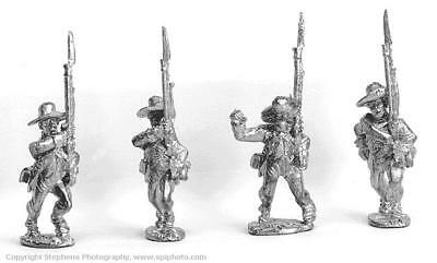 Old Glory AWI 25mm Continental Line Infantry - Marching w/Gaiters & H Pack MINT