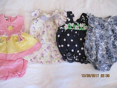 baby girls mixed lot of 4 size 3-6 months Gymboree, Old Navy, B.T. Kids, unbrand