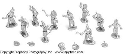 Old Glory Old West 25mm Sac & Fox Warriors - Dismounted Pack MINT