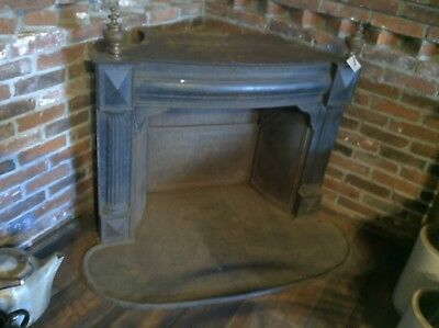 OLD CAST & Brass FIREPLACE marked FOERING & Co. 118 N. Second St. Phila.