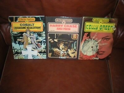 Collection Aventures Lot De 3 Tomes N°7 Cobalt + 8 Harry Chase + 14 Kelly Green