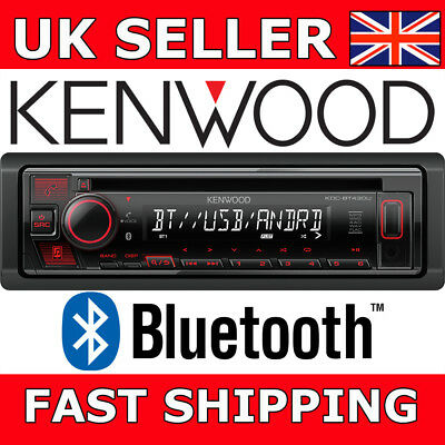 Kenwood KDC-BT430U CD Bluetooth USB/AUX Android Ready Car Stereo Spotify Red