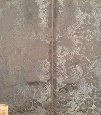 Antique Italian Embroidered Teal Floral - Monza Italy Material- 64x70Cm  Fat Q
