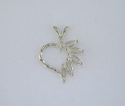 6x3 Marquise SnapTite Sterling Silver Pendant Setting