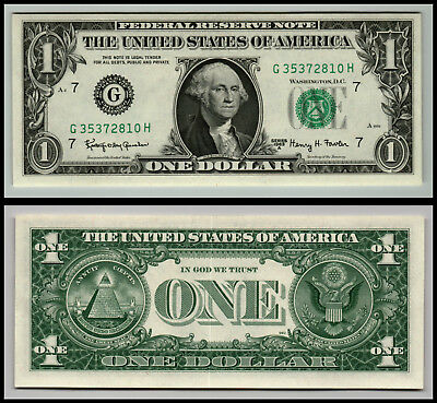 1963A Chicago  Uncirculated $1 Dollar Bill  Federal Reserve Note  Lot V124