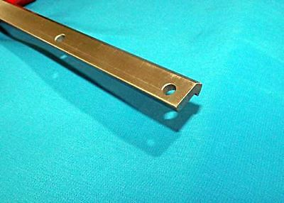 """VRD-2 78 5/8"""" #2 V-TRACK STEEL DRILLED CNC actuator guide rail V-groove bearing"""