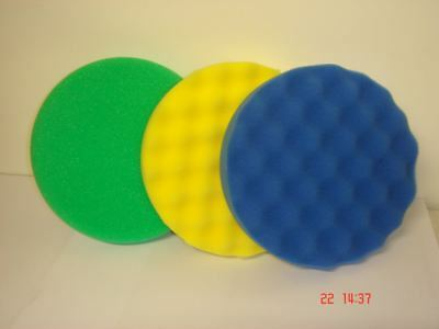 "3M Perfect-it III 3 x 150mm 6"" Pads Kit Green Yellow Blue Polishing Detailing"