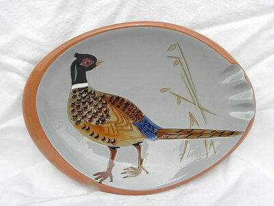 Vintage Stangl Oval Pheasant Game Bird Ashtray, #3926C #1