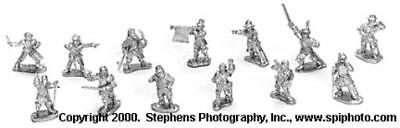 Old Glory War of the Roses 25mm Command - Dismounted Pack MINT