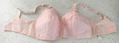 Vintage Forever Yours #3991 Size 38C Baby Pink Bullet Bra Cotton & Lace