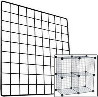 Grid and Connector Set for Indoor Guinea Pig Cage - Black