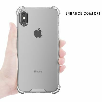 For Apple iPhone X Case Crystal Clear Bumper Silicone Gel iPhone Soft Cover