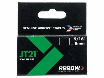 Arrow JT21 T27 Staples 8mm ( 5/16in) Box 1000