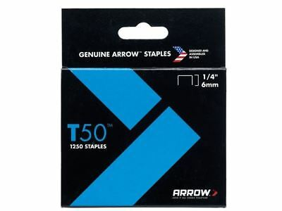 Arrow T50 Staples 6mm (1/4in) Box 1250