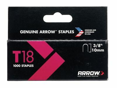 Arrow T18 Staples 10mm (3/8in) Box 1000