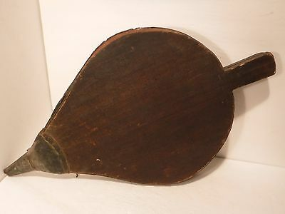 Extra Large Vintage Antique Fireplace Bellows Hearth Woodstove Tool Wood&Leather