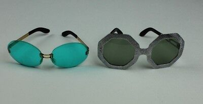 Two Pair of Vintage French Sunglasses Funky Hipster Cool