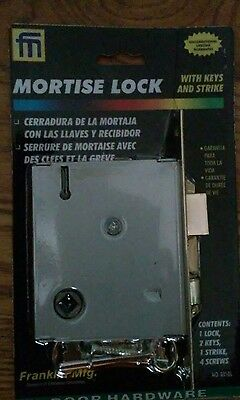 Mortise lock with keys and strike