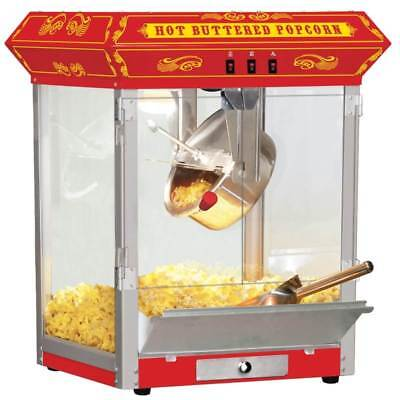 FunTime Carnival Style 8 oz. Hot Oil Popcorn Machine in Red [ID 166863]