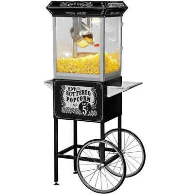 FunTime Full Size Carnival Style 8 oz. Hot Oil Popcorn Machine Cart  [ID 166861]