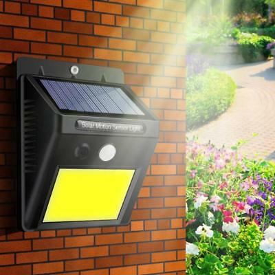 Waterproof 48 LED Solar Power PIR Motion Sensor Wall Light Outdoor Garden Lamp