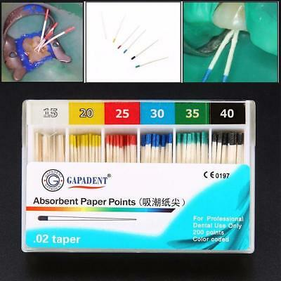 Dental Absorbent Paper Points Sterile Mixed Sizes #15-#40 for Dentistry New