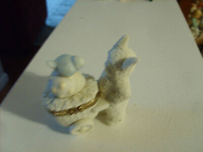Dept 56 Easter Bunnies with Basket ,Egg & Bird